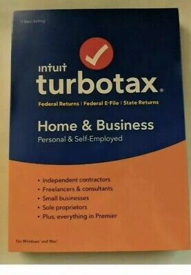 Intuit TurboTax Home and Business Federal + State 2018 Tax Software Brand New