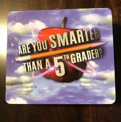 Are You Smarter Than a 5th Grader Board Game Metal Lunch Box & CD