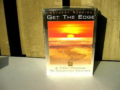 Anthony Robbins Get the Edge 10-Disc CD Set NEW SEALED Speedy Ship
