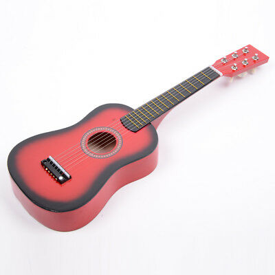 """Children's 23"""" Inch Acoustic Guitar Kids Musical Instruments Red w/ Pick Strings"""