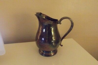 Antique Vintage Silver Plated Water Pitcher Newport Gorham