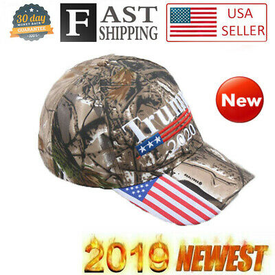 Trump 2020 MAGA Camo Embroidered Hat Keep Make America Great Again Cap A+++ USA