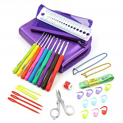 Sets of 31PCS Home Crochet Hook Pin Knitting Sweaters Needles Professional KitJA