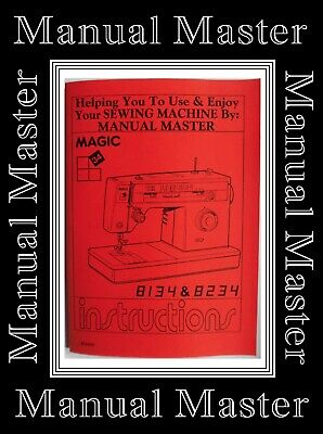SINGER 8134 & 8234 MAGIC 34 ZigZag Sewing Machine Instruction Manual Booklet