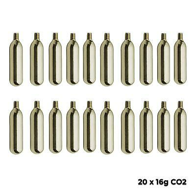 5 x 16g  CO2 THREADED GAS CARTRIDGES for BIKE TYRE INFLATOR pump capsule
