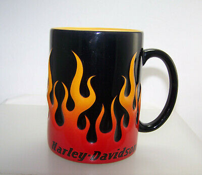 2002 Harley-Davidson Motorcycle 3D Flames Coffee Mug 15oz Ceramic Cup HDX-98604