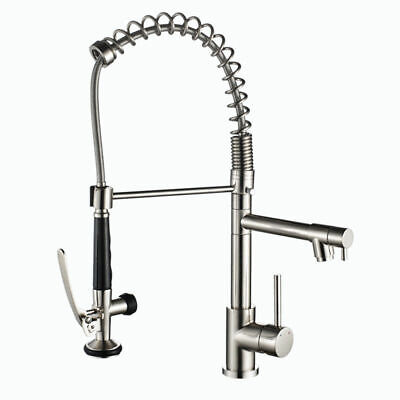 Modern 2-Function Swivel Kitchen Faucet Brass Pullout Spray Filler Tap 1 Hole