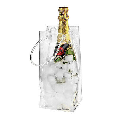 PVC Leakproof Bag Transparent Ice Pack Ice Bucket Wine Champagne Bottle Chiller