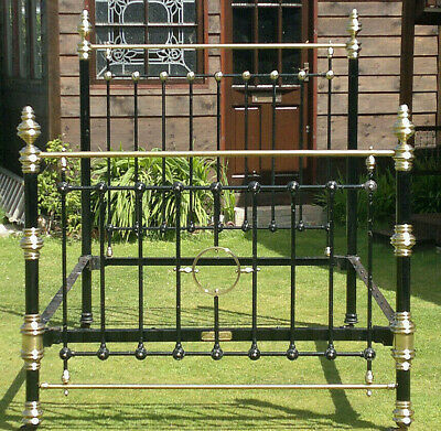 c1900 Classic Victorian Brass & Iron Bed by Thomas Perry~Bilston~