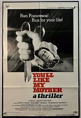 YOULL LIKE MY MOTHER Movie Poster (VeryGood+) One Sheet 1972 Horror 3680