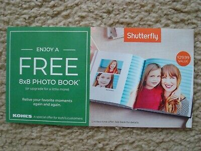 "Shutterfly 8"" x 8"" Hard Cover Photo Book Coupon Code, Exp 07/31/2019, $29.99"