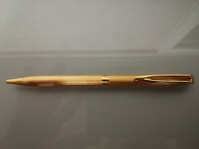 Antiguo Boligrafo Waterman Chapado Oro Plaque D'or Raro