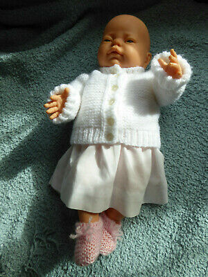 "BERJUSA 17"" Baby Girl Realistic Doll Anatomically Correct Dressed 1980's"