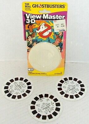 ViewMaster THE REAL GHOSTBUSTERS cartoon 3 REEL SET WITH CARD 1989 animated