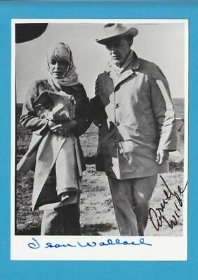 CORNEL WILDE-JEAN WALLACE in person signed glossy PHOTO 5x7 inch AUTOGRAPH