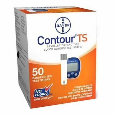 Bayer Contour Diabetic Blood Glucose Test Strips 50 Count