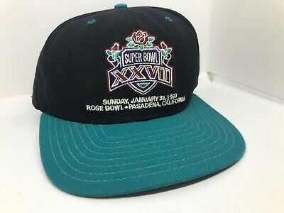 a48dece3e48cc5 Vintage 1993 Super Bowl Xxvii 27 Dallas Cowboys Vs Buffalo Bills Cap Hat  Rare