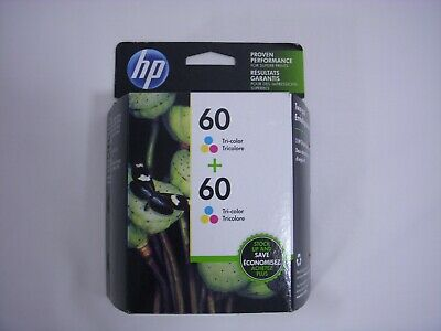 NEW Genuine Hewlett Packard 60 (CZ072FN) Ink Cartridges Twin-Pack Exp. FEB 2020