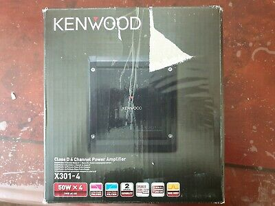 Kenwood X301-4 - 300 Watts Class D 4 Channel Power Car Amplifier Amp