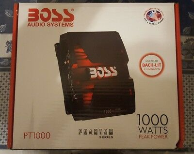 Boss Audio Phantom PT1000 2/1 Channel Full Range, Class A/B Amplifier