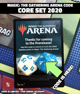 Magic: The Gathering Arena CORE 2020 Code 6 Booster Packs EBAY MSG Fast Delivery