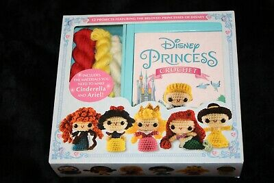 Disney Princess Crochet Kit Cinderella & Ariel 12 Patterns Belle Jasmine Mulan
