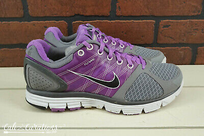 huge selection of 01a95 743fc Nike Lunarglide 2 Womens Size 8.5 Running Shoes Gray Purple