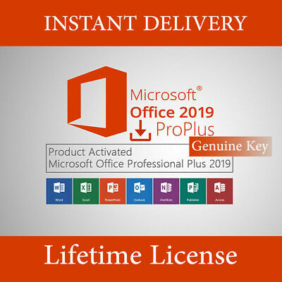 2019 Pro Plus 32/64 Bit Lifetime License Genuine Key 🔥 For 1PC