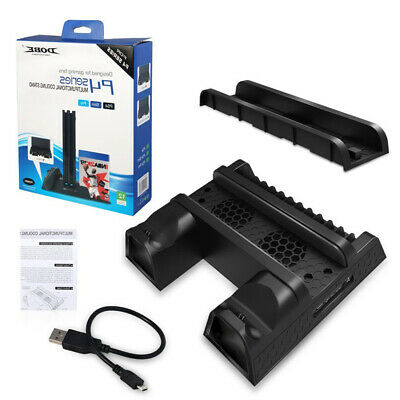 Cooling Stand For PS4/PS4 Slim/PS4 PRO Charging Station Dual Cooler Fan AU D2A6Q