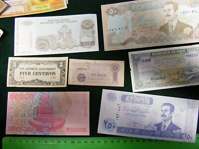 Lot of  23 diff. Used & unused... World Banknotes,Good mix...Some 1940s WWII.