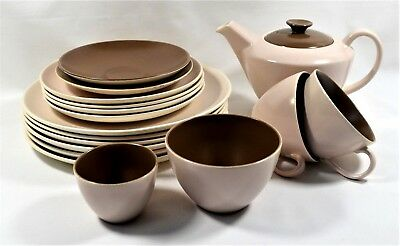 POOLE POTTERY TWINTONE MUSHROOM AND SEPIA C54  - various items REPLACEMENTS