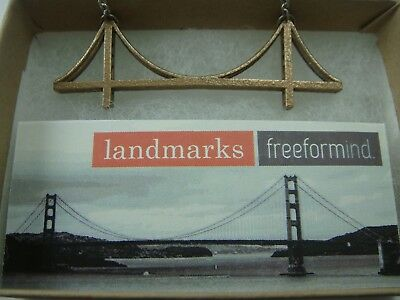 Free For Mind Golden Gate Bridge 3D Landmark Necklace New In Box $49