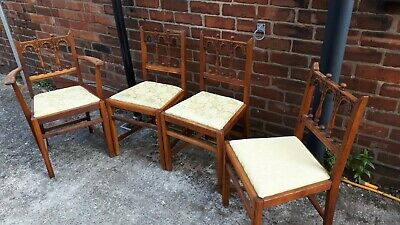 Ercol old colonial dining chairs