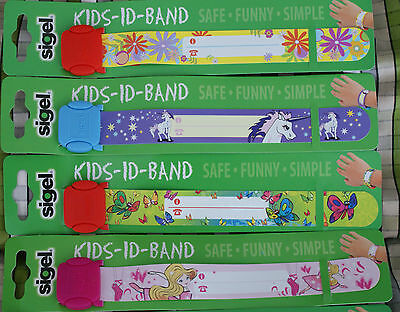 Girls ID wrist band Reuseable parties concert holiday festivals school trip