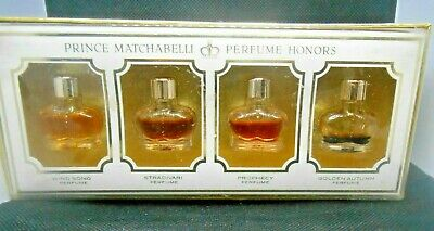 Vintage Prince Matchabelli Box set of 4 Perfume Miniatures  All with contents