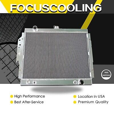 2 Rows Aluminum Radiator For 1979 80 81 82 83-93 Dodge D150 W150 Ramcharger