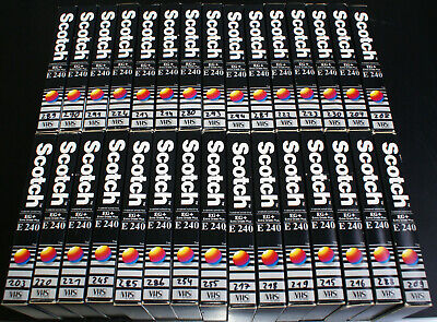 30 x Scotch VHS EG+ E-240 Extra Grade Plus PAL/SECAM Video-Leer-Kassetten