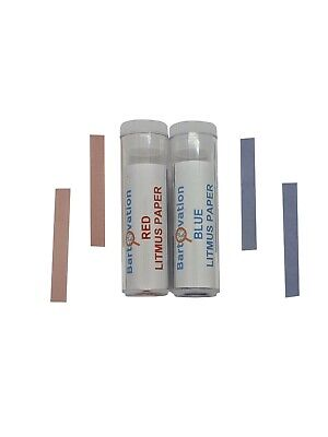 Red & Blue Acid/Base Indicator Paper Test Strips Combo Pack with 200 Strips