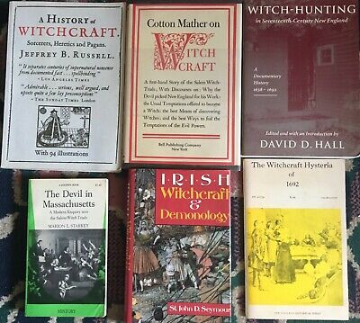LOT OF 6 Vintage Witchcraft Books Cotton Mather, Devil in Massachusetts
