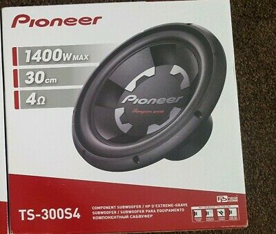 "Pioneer TS-300S4 - 12"" 1400W Champion Series Single Voice Coil 4Ω Car Subwoofer"