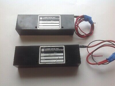 LOT of Two (2) HeNe DC laser power supplies Laser Drive JDS Melles Griot SP