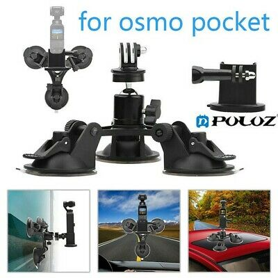 Suction Cup Car Mount Holder For Tripod base + Adapter For DJI Osmo Pocket