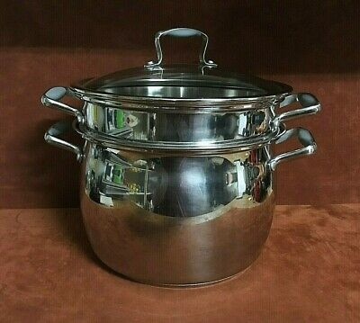 BELGIQUE STAINLESS STEEL 3-Qt  Soup Pot with Lid NEW IN