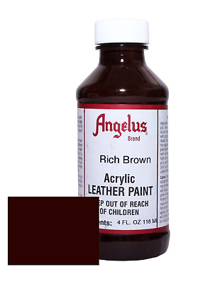 Angelus Acrylic Leather Paint-4oz.-Rich Brown