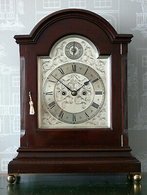 Gillett & Johnston Twin Fusee Quarter Chiming Bracket Clock Elliott