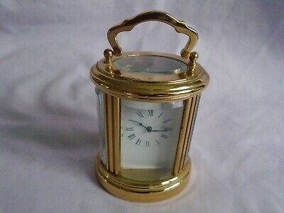 L'epee ? 8 Day Miniature Oval Carriage Clock + Key In Excellent Condition
