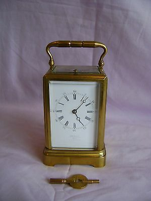 DROCOURT ONE PIECE STRIKING, REPEATING CARRIAGE CLOCK c1870 RETAILED BY LEROY