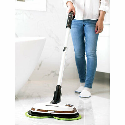 Cordless Power Mop Floor Polisher ELICTO dusts, scrubber polishes mop pad ES-530