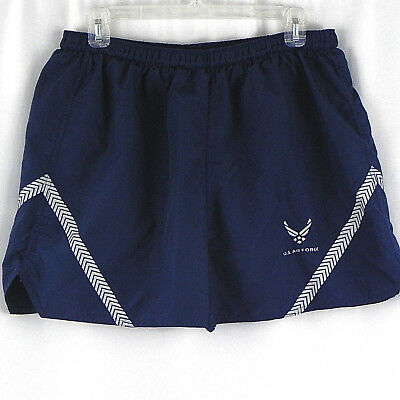 US Military Air Force Mens XXL PT Trunks Shorts Physical Training Blue Silver
