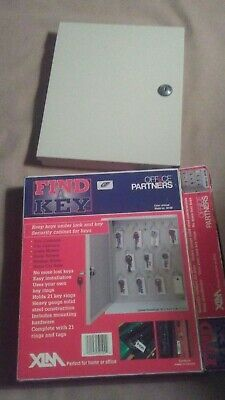 Find A Key Wall Mount Security Key Cabinet Office Partners 21 Rings Tags New